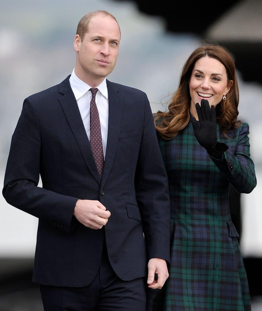 6362a8f34c0 Kate Middleton McQueen Tartan Coat Dundee Visit January 2019 ...