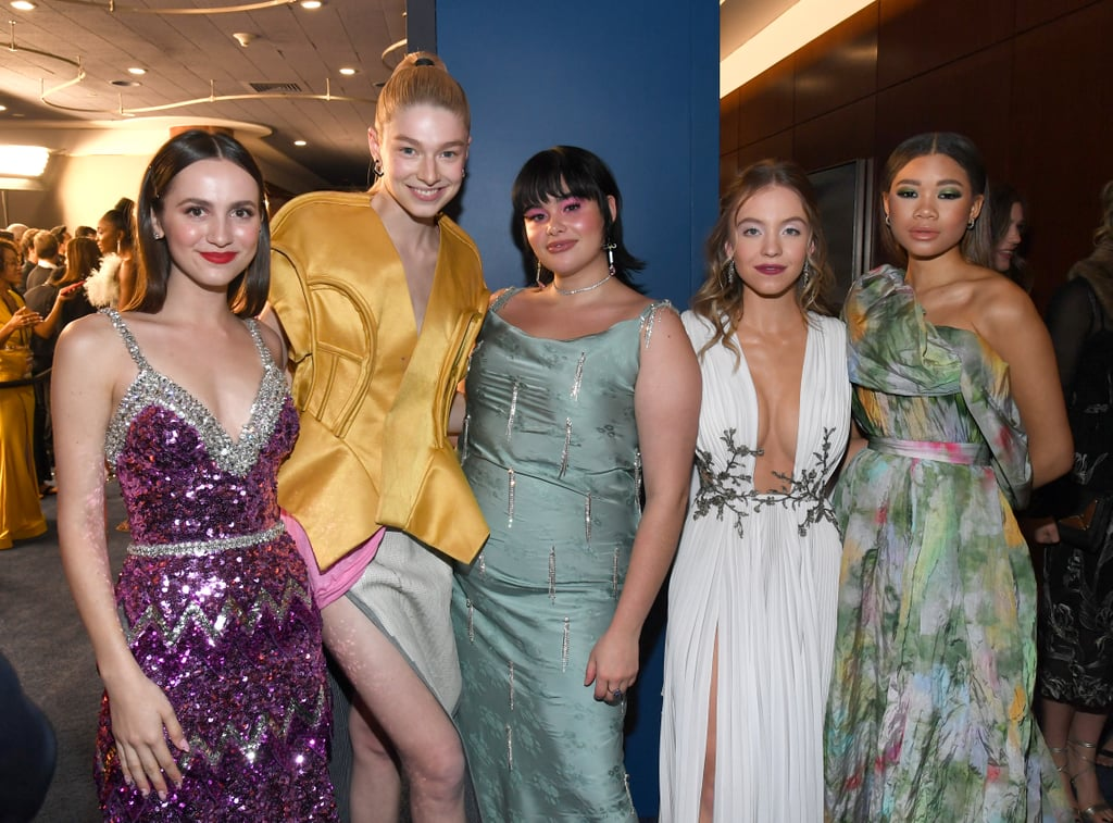 Euphoria may have left us with a few cliffhangers after the finale, but at least we have these new photos of the cast — including Sydney Sweeney, Barbie Ferreira, Hunter Schafer, Storm Reid, Alexa Demie, and Maude Apatow — having fun at a Golden Globes afterparty to hold us over while we patiently wait for the premiere of season two. While the cast didn't attend the 77th annual Golden Globes ceremony on Sunday night, the cast did show up to InStyle and Warner Bros.' annual afterparty at the Beverly Hills Hilton to enjoy the postshow festivities — and they all looked gorgeous from head to toe. Keep scrolling to see what the Euphoria cast got up to during the afterparty.       Related:                                                                                                           Joey King Paired Her Hypnotic Golden Globes Dress With a Trippy AF Manicure