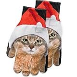 SO Cat in Santa Hat Texting Gloves