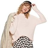 POPSUGAR Fuzzy Mockneck Sweater