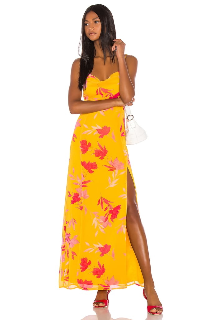 Song of Style Eli Maxi Dress in Yellow Floral from Revolve.com
