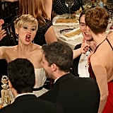 It Wasn't Even Her Globes Win, but Jennifer Lawrence Got Superexcited