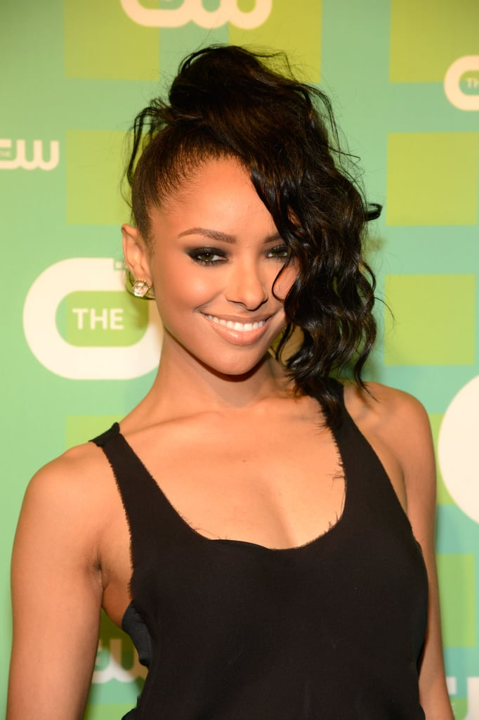Kat Graham went with a wild hairstyle for the CW Upfront.
