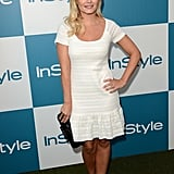 Elisha Cuthbert wore a white number to InStyle's Summer party in LA.