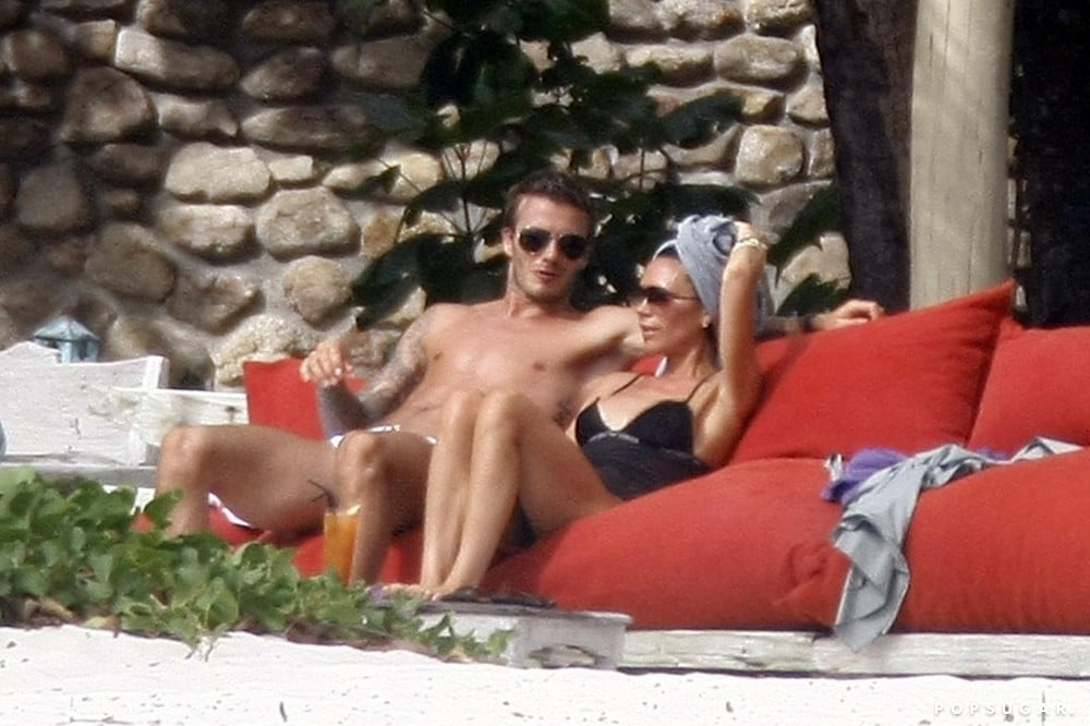 The couple celebrated their 10th wedding anniversary in Seychelles in July 2009.
