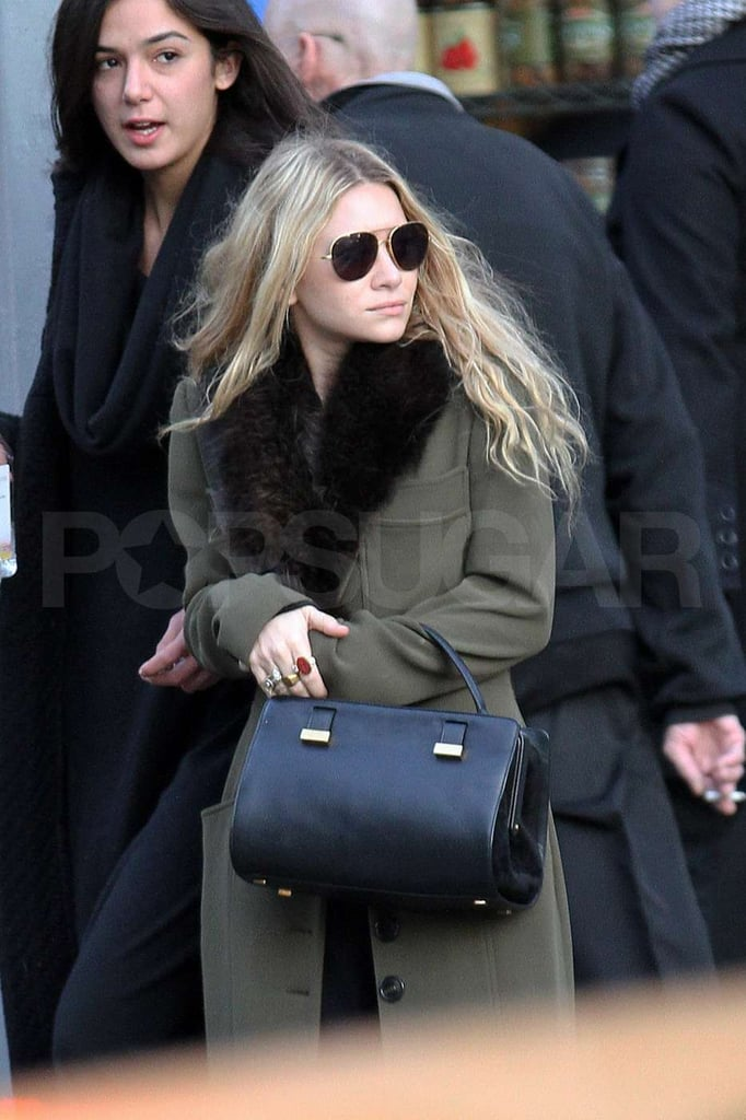 Ashley Olsen kept warm in a furry-lined coat and clutched her bag close during an afternoon walk in the East Village of NYC on Saturday. Vogue named Mary-Kate and Ashley Olsen best dressed of 2011, and as one-half of the famously fashionable duo, Ashley was showing off her street style. The sisters take their Elizabeth & James, The Row, and StyleMint lines very seriously and recently also signed on as creative directors to Superga. Still, MK and Ashley have been letting fans see a bit of their silly sides with their monthly StyleMint videos. The Olsen twins tried out planking, owling, and plain old hugging for this month's adorable installment.