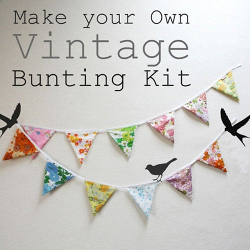 Make your own vintage bunting kit christmas gift ideas Make your own christmas bunting