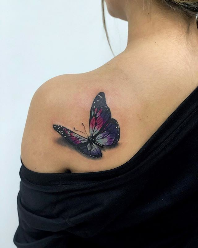 d86a2209e 3D Butterfly Tattoos | POPSUGAR Beauty Australia
