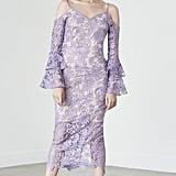 Lavish Alice Ruffle Sleeve Cold Shoulder Dress