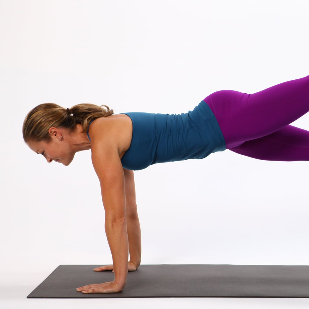 Plank With Leg Lift on Exercise Ball