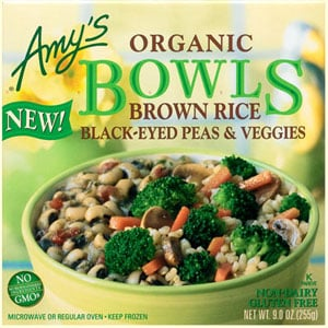 Food Review: Amy's Brown Rice, Black-Eyed Peas & Veggies Bowl
