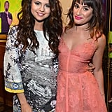 Selena Gomez and Lea Michele paired up backstage at the Kids' Choice Awards.