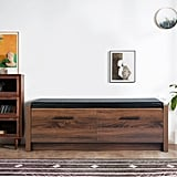 Lawrence Faux Leather Storage Bench