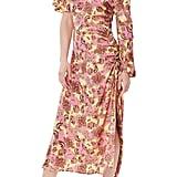 Afrm One-Shoulder Printed Midi Dress