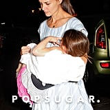 Katie Holmes had Suri Cruise in her arms getting back to her NYC apartment.