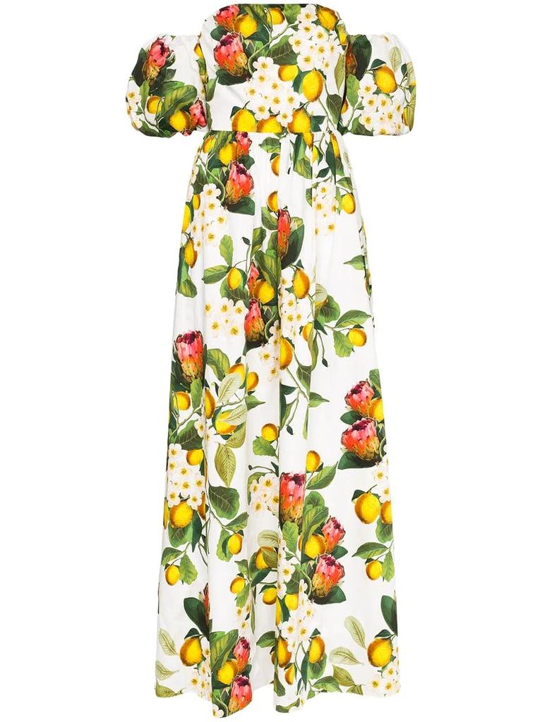 Borgo De Nor Juliette Lemon-Print Maxi Dress