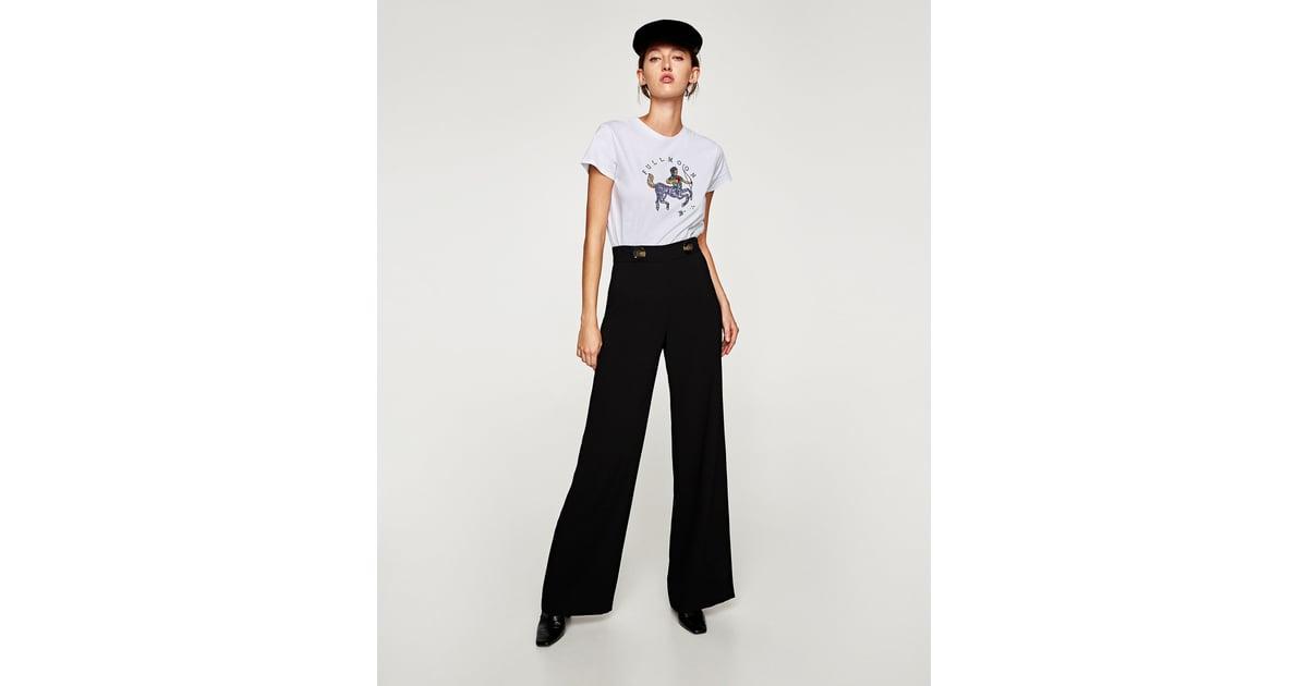 Zara sequined horoscope t shirt how to dress like rachel for Zara black t shirt dress