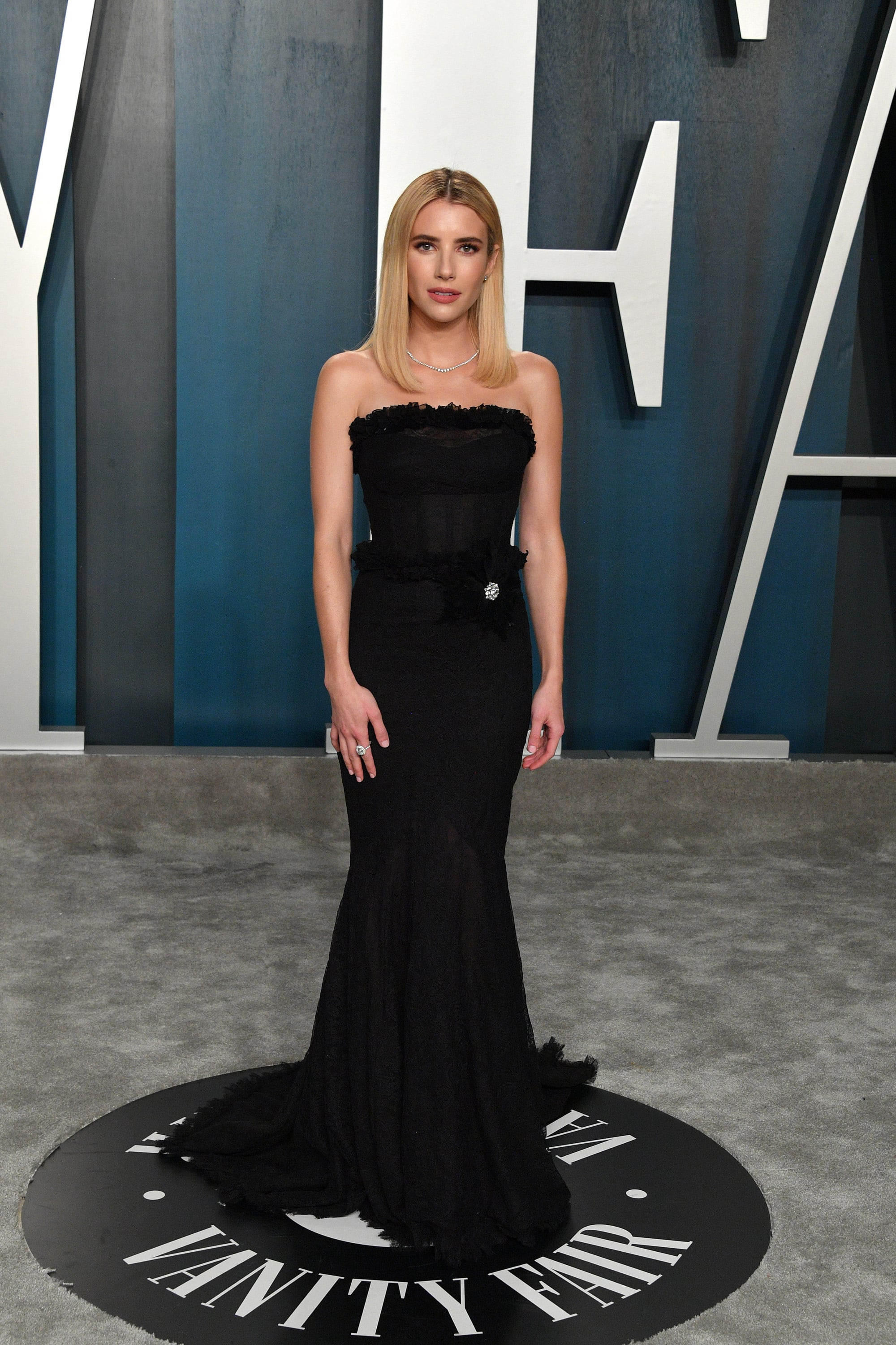 Emma Roberts At The Vanity Fair Oscars Afterparty 2020 See Every Incredible Dress At The Vanity Fair Oscars Afterparty Popsugar Fashion Photo 29