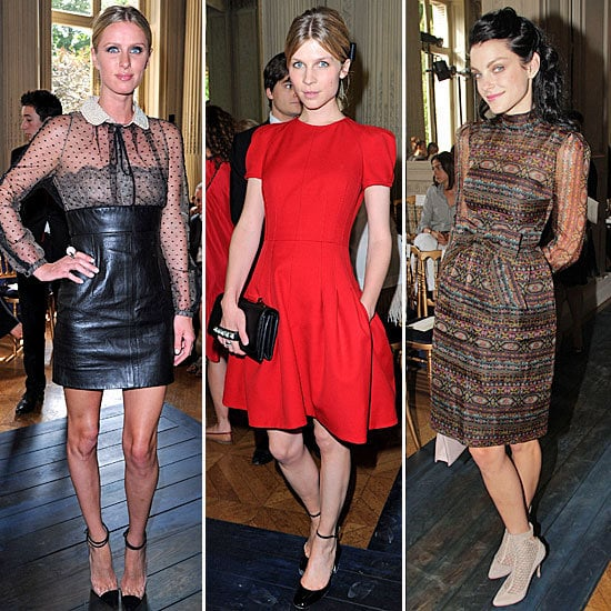 Celebs came out in full force for Couture Fashion Week this season. Here are our favorite looks from Nicky Hilton, Clémence Poésy, Jessica Stam and more.