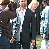 Liev Schreiber was seen suited up on the set in LA on Wednesday.