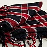 Armour Vert Indigo Handloom Highland Red Scarf