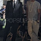 Jay-Z Pays Will Smith a Visit on the Set of Men in Black III