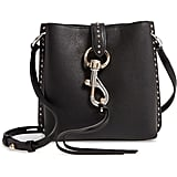 Rebecca Minkoff Mini Megan Studded Leather Feed Bag
