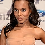 Why not add a middle part to your half-up hairstyle to get Kerry's look from the 2011 BET Awards?