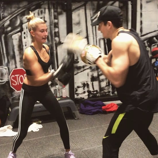 Hailey Baldwin at Rumble Boxing