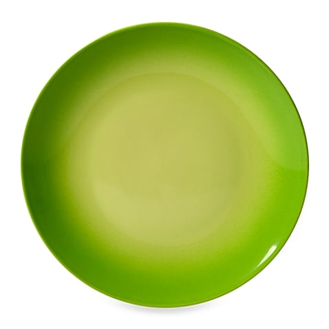 Tabletops Unlimited Ombre Green Dinner Plates