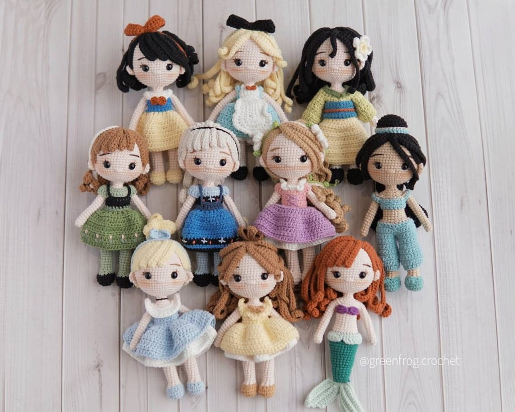 Disney Princess Doll 10 Pattern Bundle