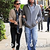 On Wednesday, Amy Adams took a stroll with Darren Le Gallo in LA.