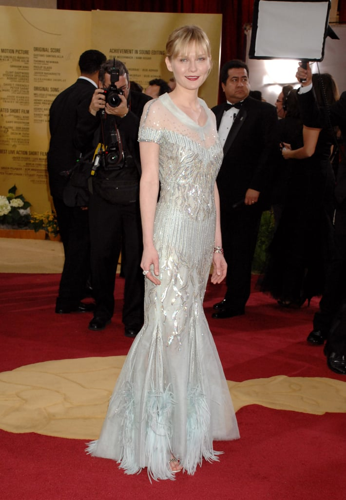 Kirsten donned an icy-hued Chanel Couture gown at the 2007 Oscars.