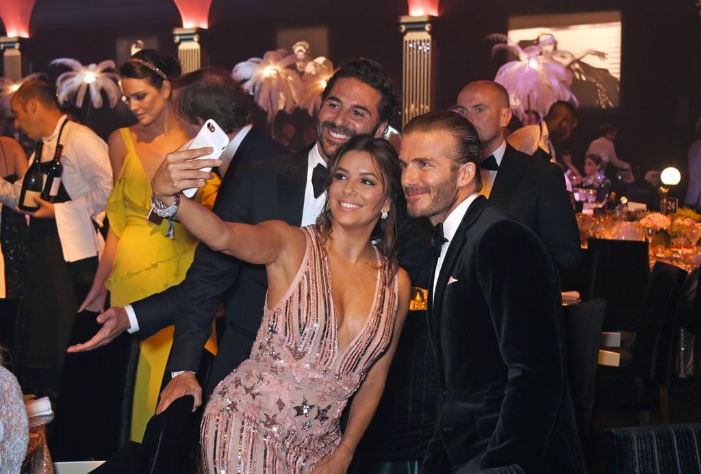 José Antonio Bastón, Eva Longoria, and David Beckham
