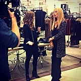Rachel Zoe stopped for a minute to talk to us about her Fall collection.