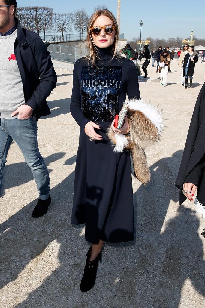 Olivia Palermo wearing Westward Leaning sunglasses.