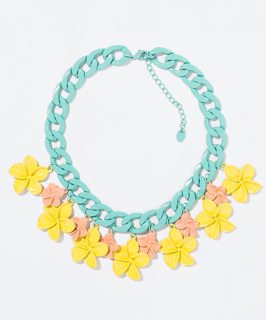 Zara pastel flower and chain necklace ($26)