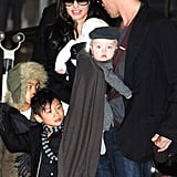 The Jolie-Pitts in Japan