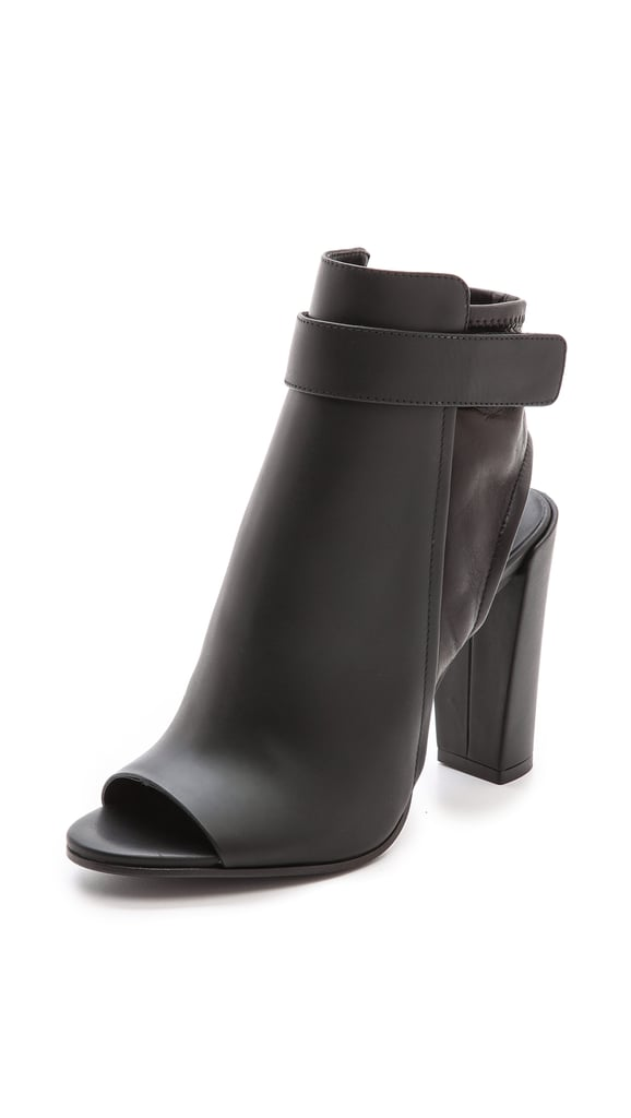 Vince Open-Toe Booties