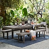 Portside Outdoor Expandable Dining Table and Bench Set