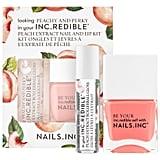 Nails Inc. Peachy and Perky Lip Gloss and Nail Polish Set