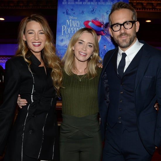 Blake Lively Ryan Reynolds at Mary Poppins Returns Screening