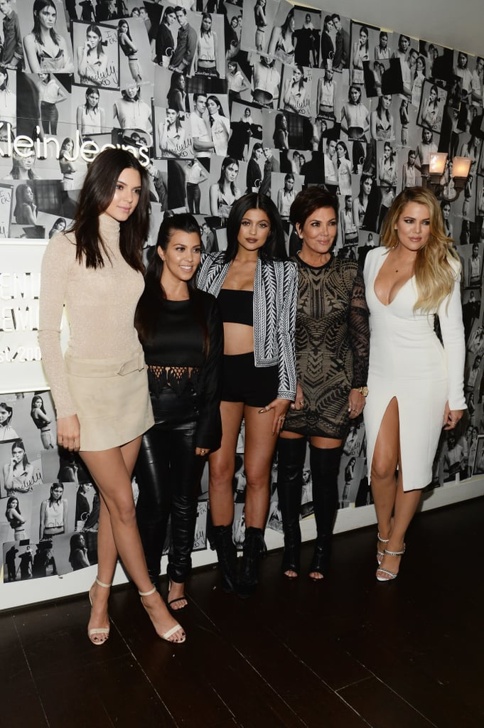 Kendall, Kourtney, Kylie, Kris, and Khloé took a photo to celebrate Kendall's #MyCalvins campaign.