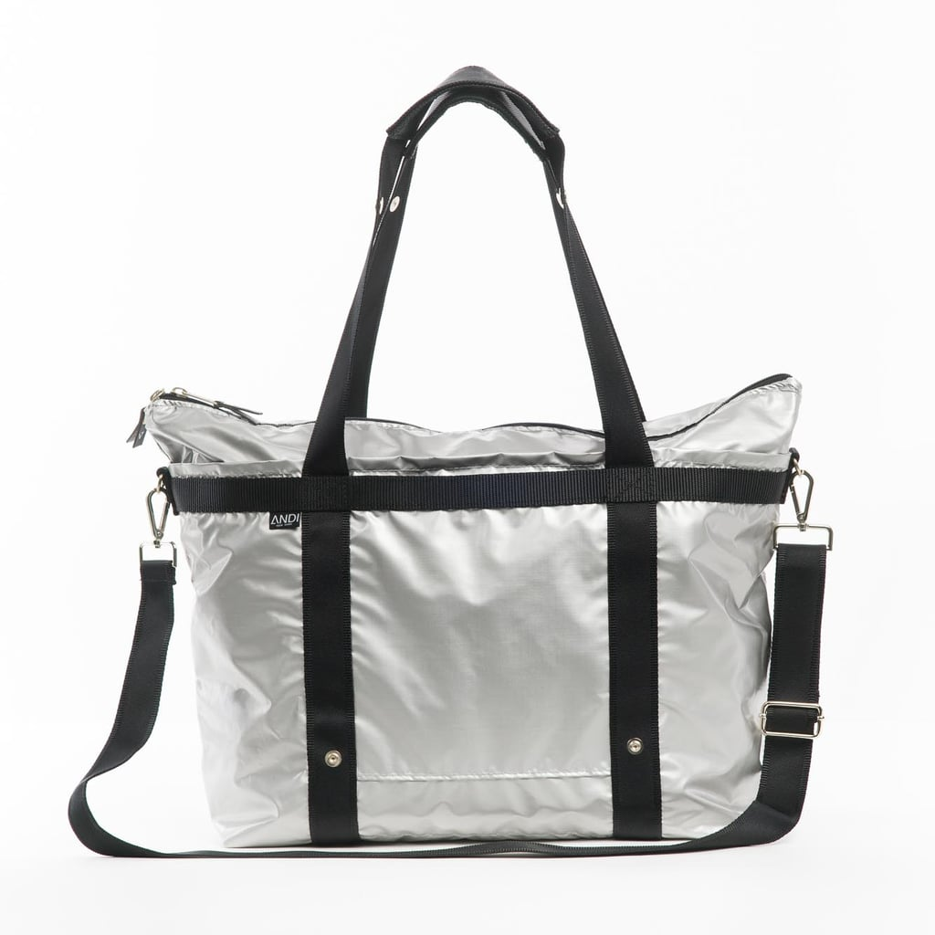 The ANDI Midnight Metal Gym Tote