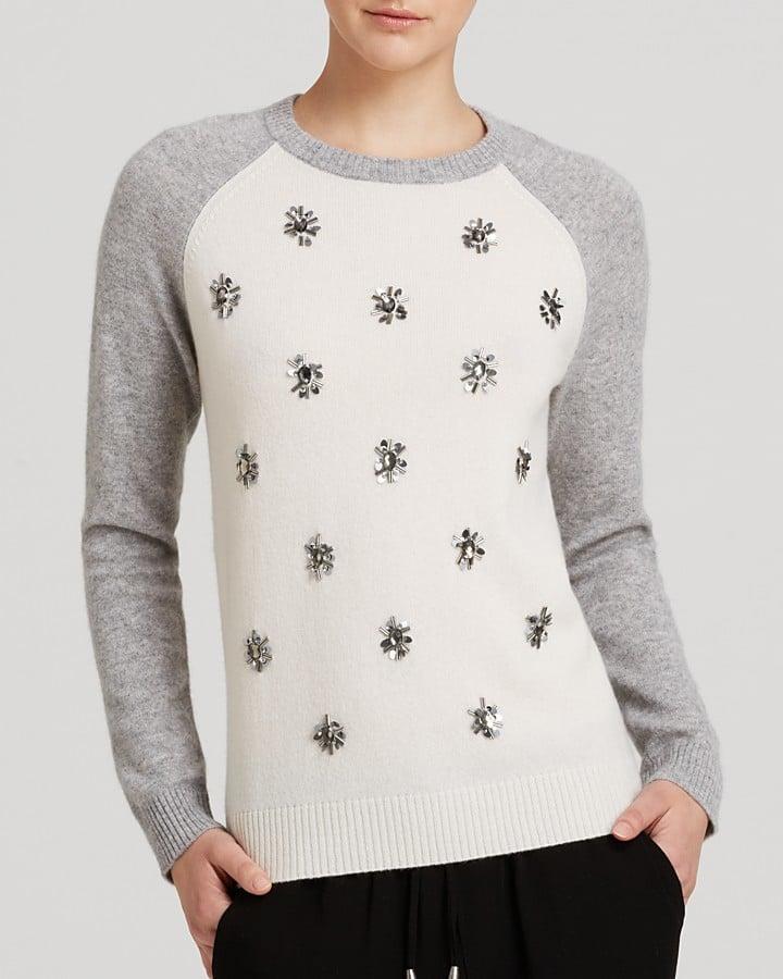 AQUA Jewel Baseball Sweater