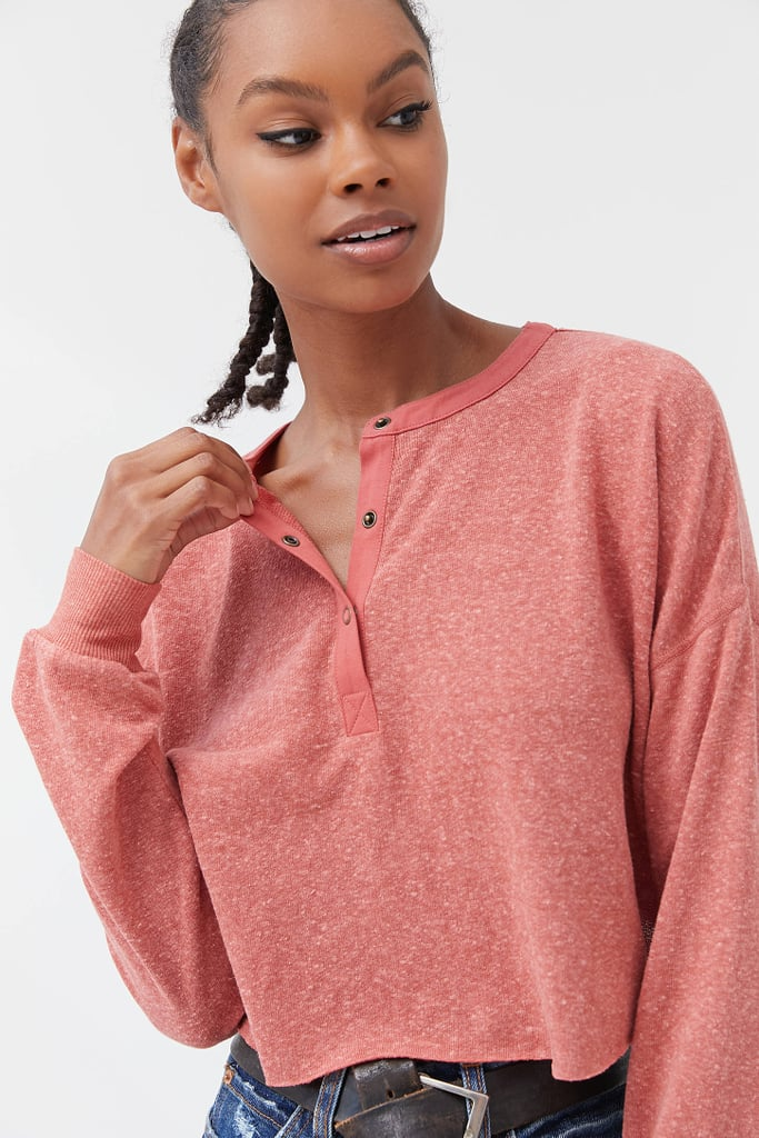 Out From Under Emmy Triblend Henley Top