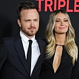 Aaron Paul and Lauren Parsekian Almost Blind the World With Their Hot Red Carpet Date