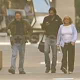 Ashton Kutcher on the set of Two and a Half Men in LA.