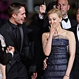 Sarah Gadon, Robert's costar in Map to the Stars, made him laugh at their premiere more than once.