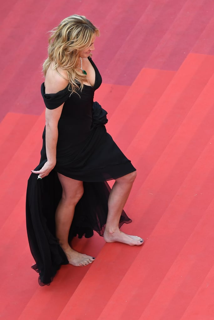 But She Went Barefoot to Climb the Cannes Stairs